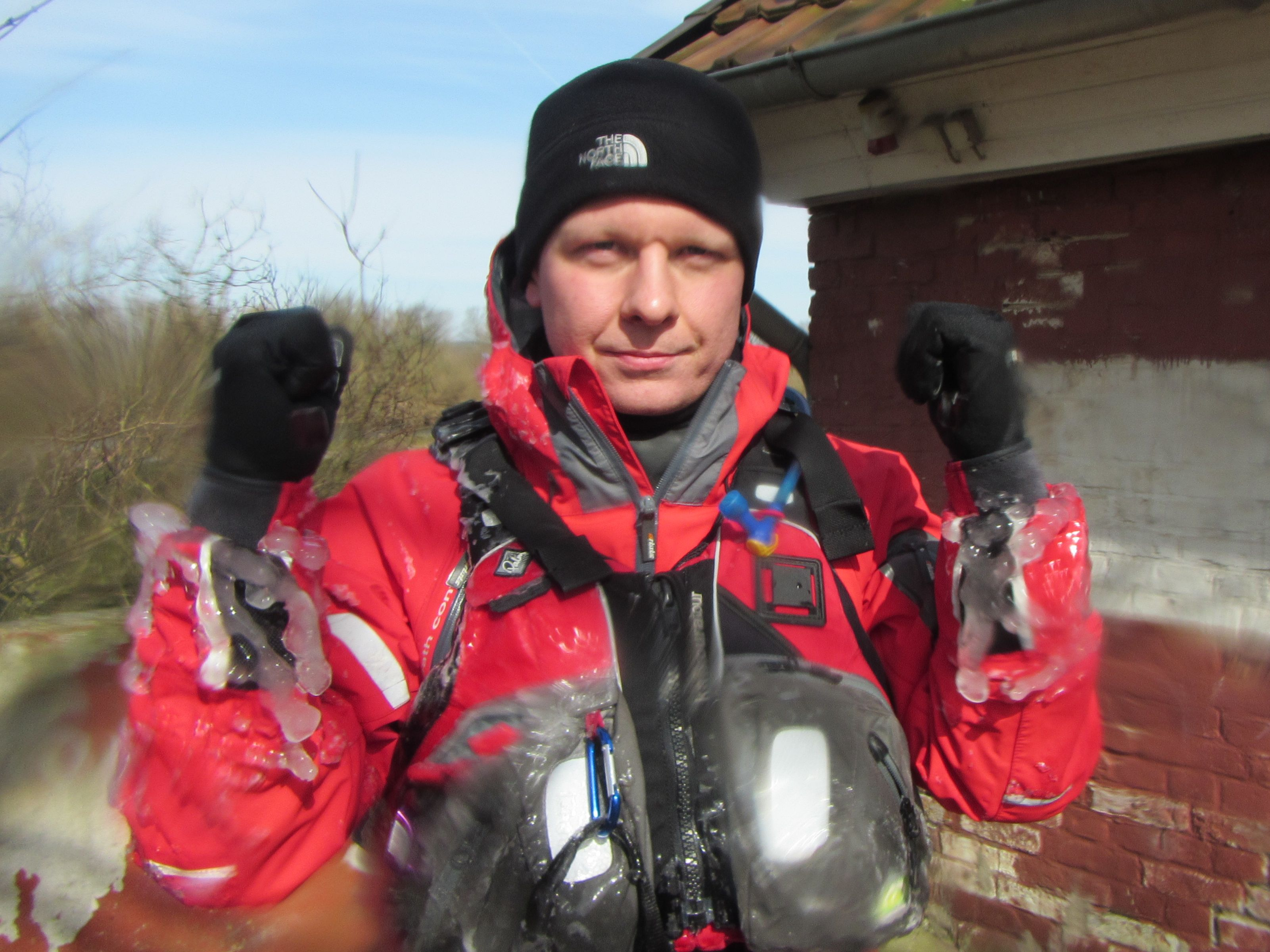 Aller Hochwasser Rallye Eiszapfen