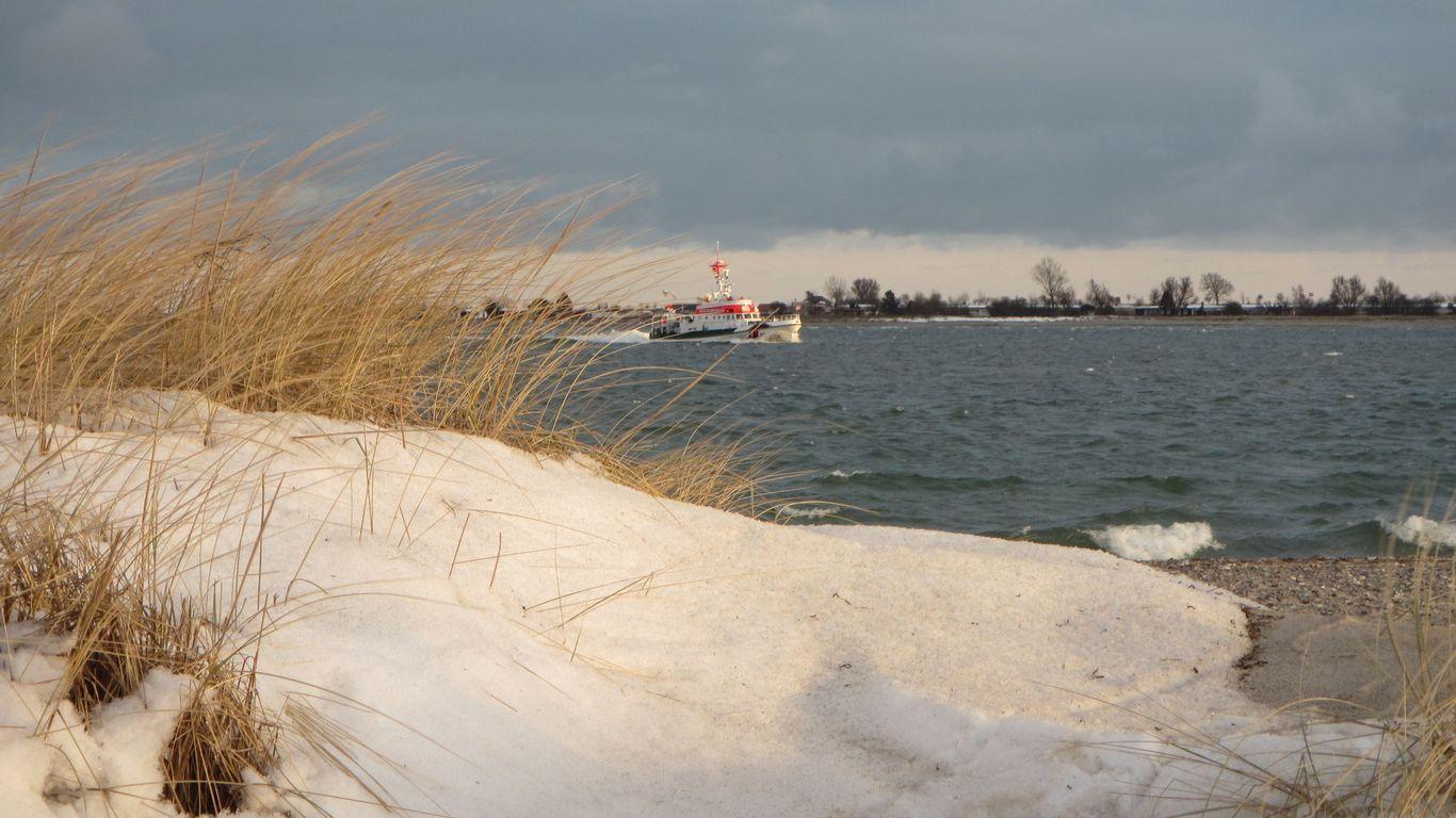 Fehmarn Schnee Seenotrettung Düne